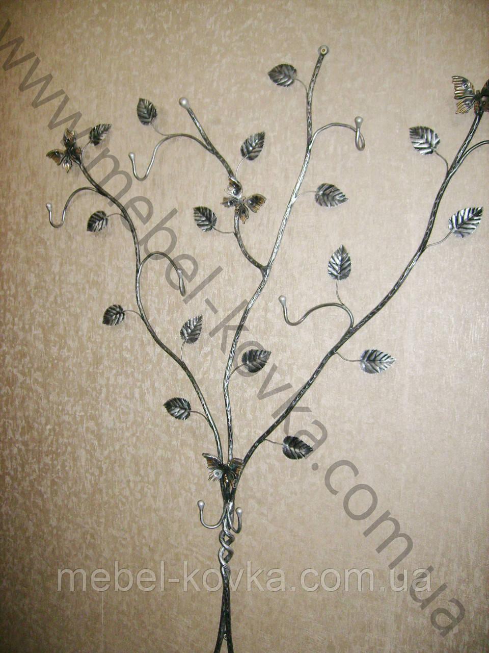 Вешалка кованая  в форме дерева  4