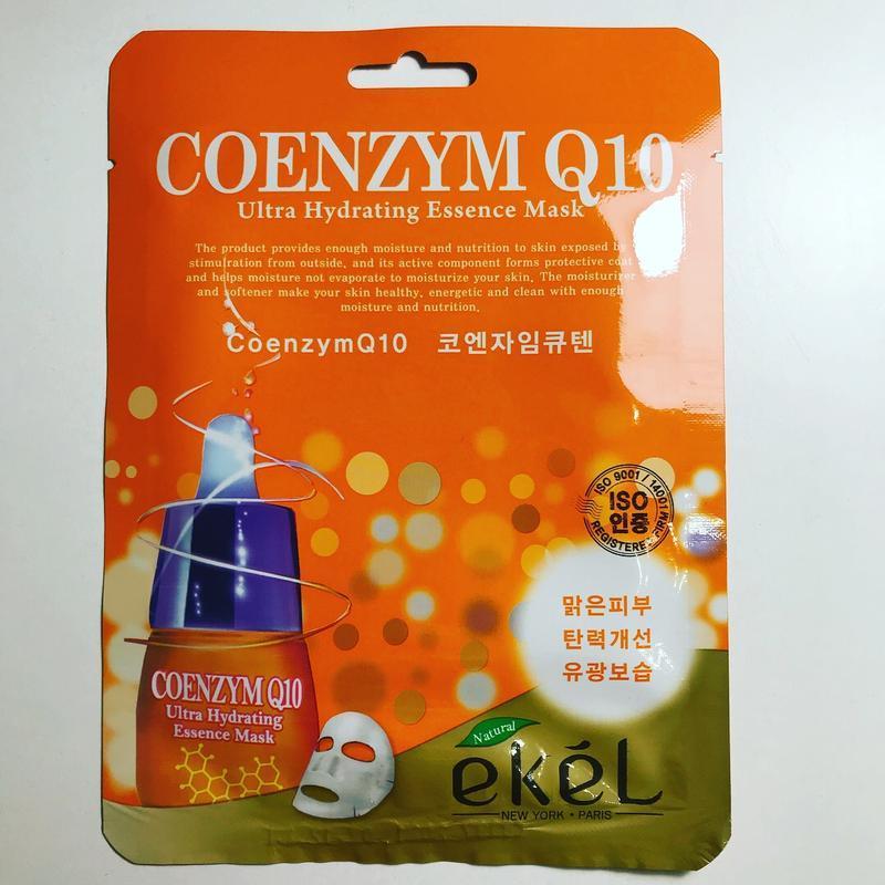 Ультра увлажняющая тканевая маска с Коэнзимом Q10 Ekel Ultra Hydrating Essence Mask