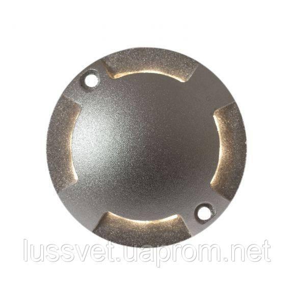 Накладной четырехсторонний LED светильник IP67 для скрытой подсветки SpectrumLED SPELLY 12V 1W (серый)