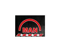 Брызговик для грузовика MAN 480х330  красная надпись (рис.) 1130 комплект