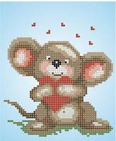 Княгиня Ольга Схема для вышивки бисером Мышка з сердечком СД-014