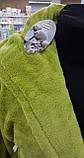Халат махровый женский длинный WELSOFT (TM ZERON) Турция , Фисташковый, фото 2