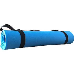 Коврик для йоги Polifoam (Полифом) голубой (0,6х1,73м, толщ. 5мм)