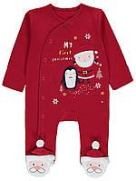 Красный новогодний слип (комбинезон) George для малышей