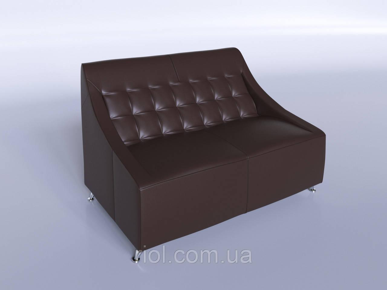 Офисный диван Полис коричневый
