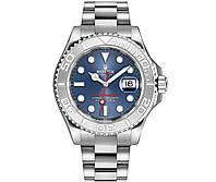 Годинник Rolex Yacht-Master 40мм (ETA 2834-2) Silver/Blue (Механіка). Replica: AAA.