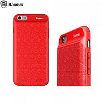 Чехол-аккумулятор Baseus Plaid для iPhone 7/7s/8 5000mAh (ACAPIPH7-LBJ) Красный