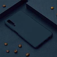 Чехол для Samsung A750 / A7 2018 силикон soft touch бампер черный