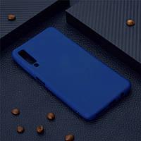 Чехол для Samsung A750 / A7 2018 силикон soft touch бампер темно-синий