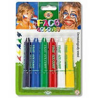 Краски для лица KOH-I-NOOR 4610-6 (6 цветов)