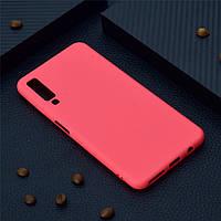 Чехол для Samsung A750 / A7 2018 силикон soft touch бампер красный