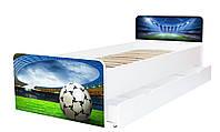 Кровать для подростка Футбол серия Beverly, кровать односпальная 80*190, кровать на ламелях