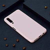 Чехол для Samsung A750 / A7 2018 силикон soft touch бампер светло-розовый