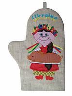 Прихватки-рукавиця лляна