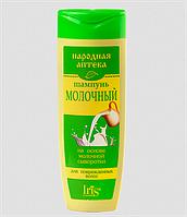 """Шампунь Молочный для поврежденных волос 400 мл """"Народная аптека"""" Iris Ir-0255"""