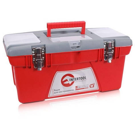 Ящик для инструментов с металлическими замками INTERTOOL BX-0518, фото 2