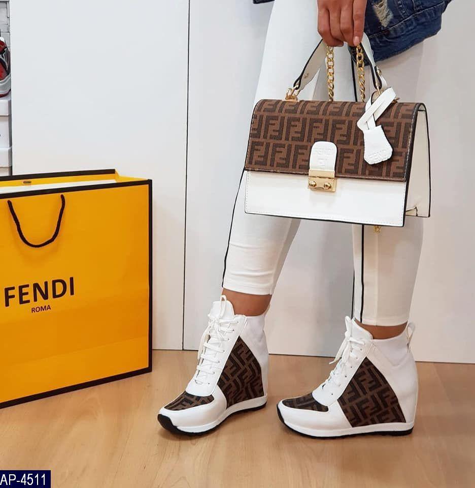 Ботинки Fendi турция Эко-кожа Высокое качество Износостойкая подошва под заказ 5-10 дней (есть набор)