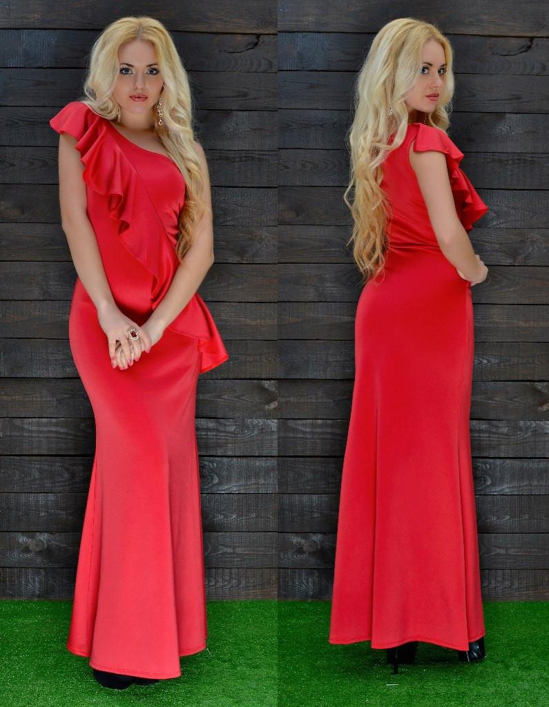 Платье в пол дайвинг
