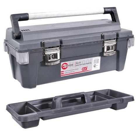 Ящик для инструментов с металлическими замками INTERTOOL BX-6025, фото 2