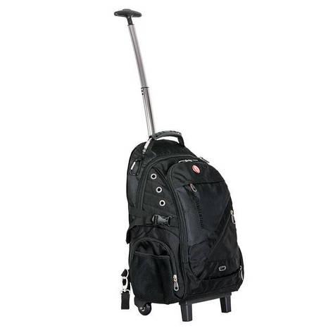 Рюкзак дорожный Intertool 3 отделения, 30 л. на колесах с телескопической ручкой INTERTOOL BX-9024, фото 2