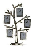 """Фоторамка со стразами """"дерево"""" (5 фото) (23,5х15х5,5 см)(9630)"""