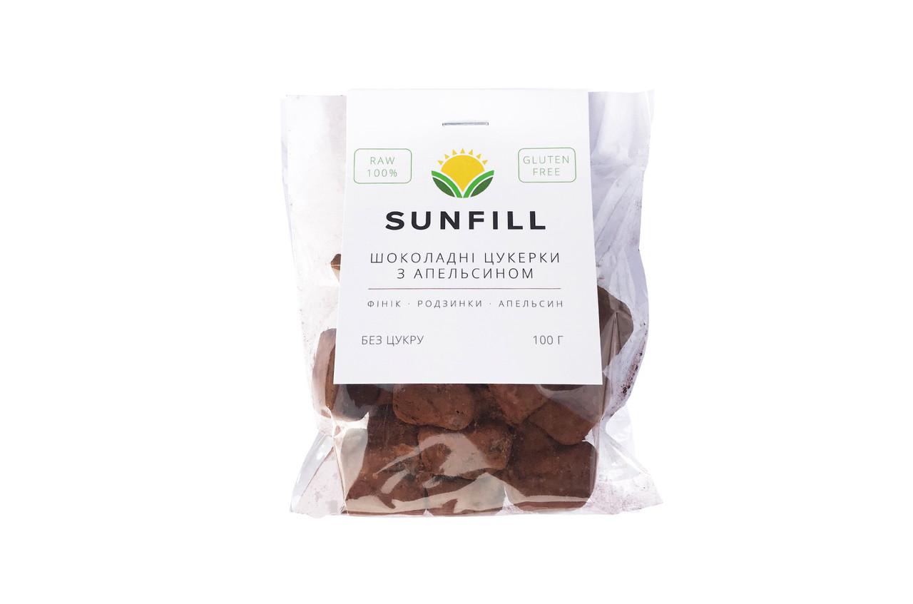 Шоколадные конфеты с апельсином БЕЗ ГЛЮТЕНА,100г