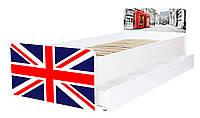 Кровать для подростка Великая Британия серия Beverly, кровать односпальная 80*190, кровать на ламелях