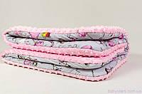 """Детский плед из плюша, """"Балеринка"""" 80 х 85 см розовый, фото 1"""