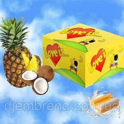 Жувальні гумки Love is ананас-кокос, блок -100 шт