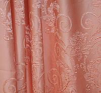 Портьерная ткань,объемный рисунок персик, фото 1