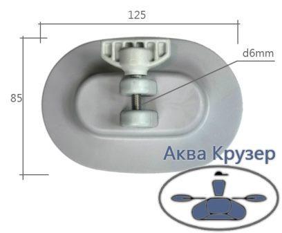 Основа кріплення каркаса тенту для надувних човнів ПВХ - фурнітура тентів - Аква Крузер