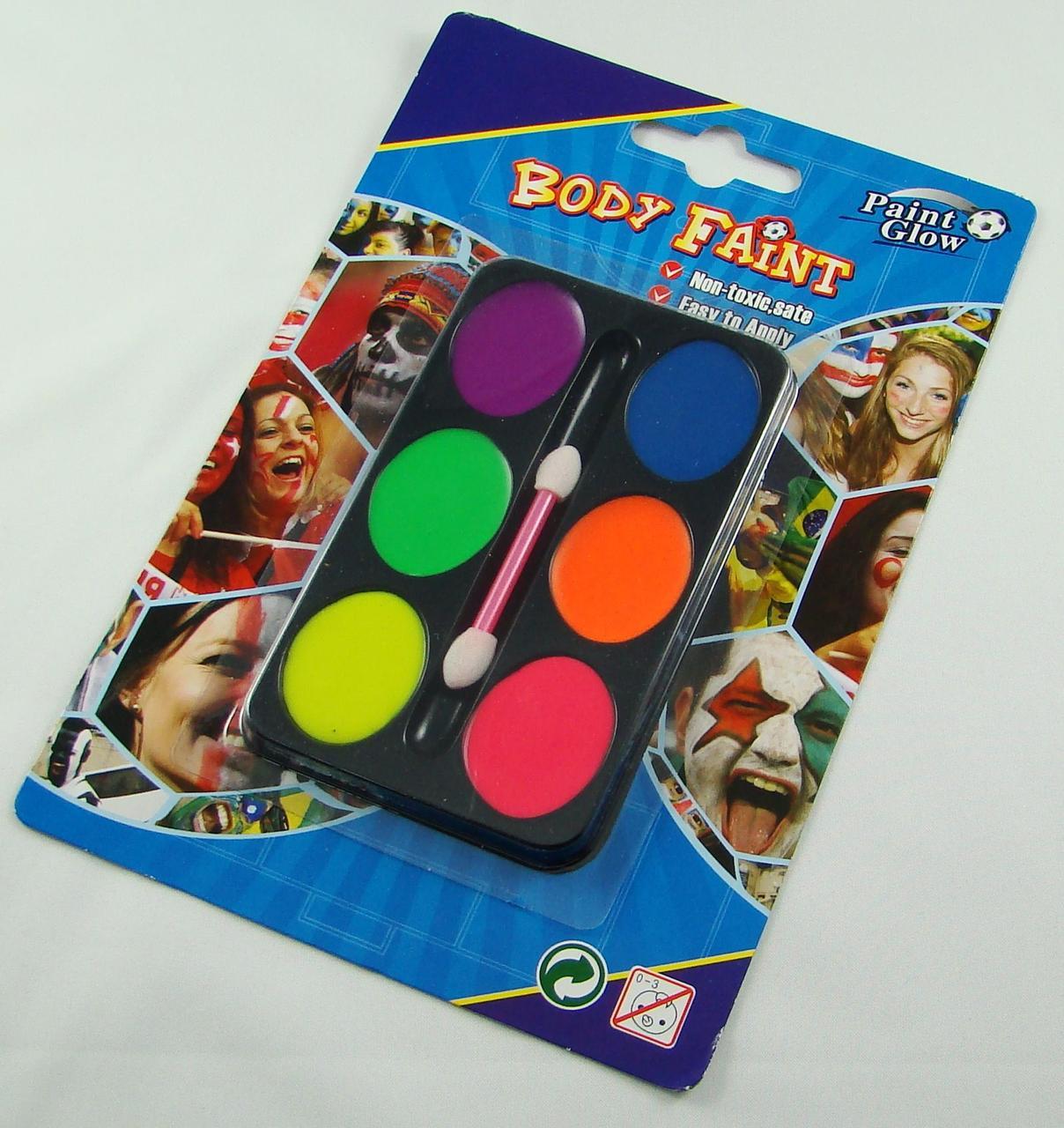 Краски для лица (6 цветов) FP04-1109
