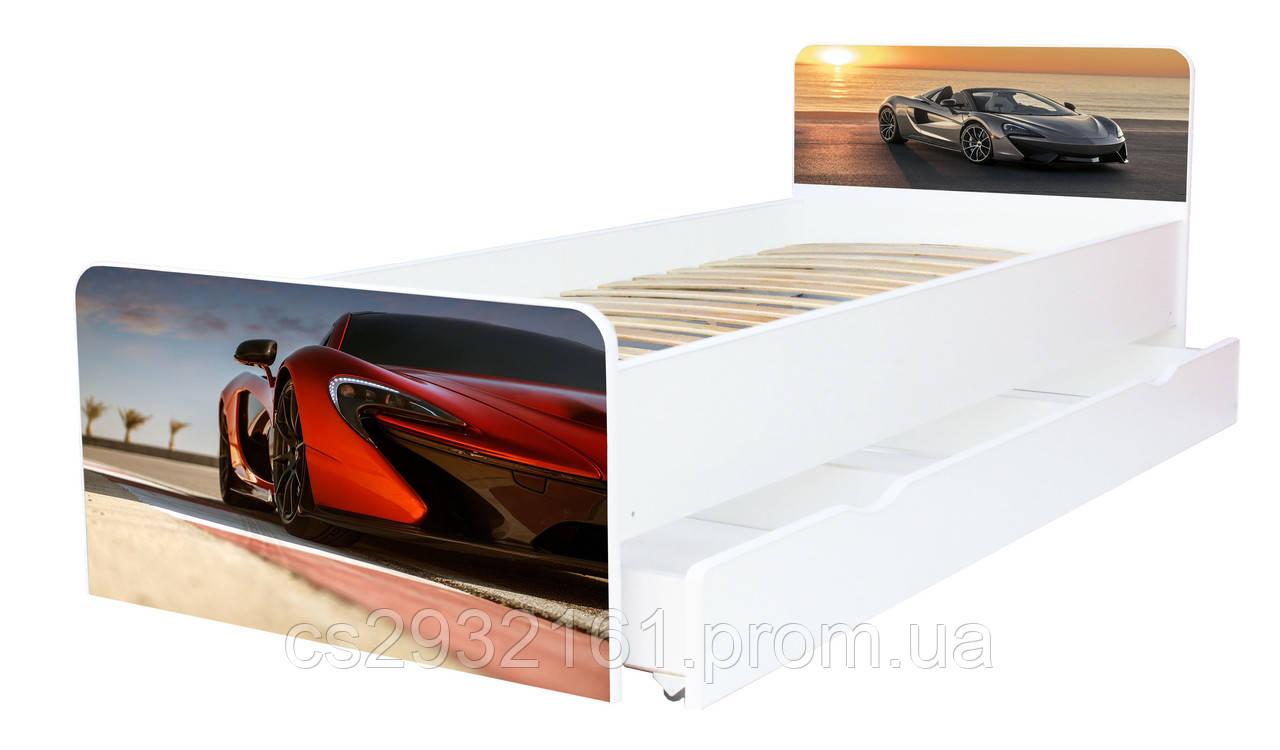 Кровать для подростка Авто серия Beverly, кровать односпальная 80*190, кровать на ламелях