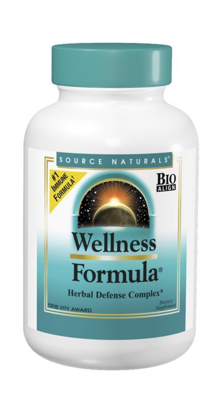 Растительный Иммунный Комплекс, Wellness Formula, Source Naturals, 90 таблеток