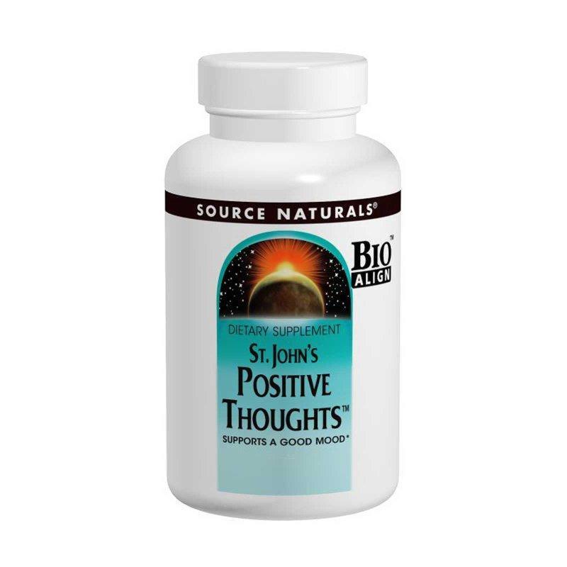 Комплекс для Підтримки Гарного Настрою, St. John's Positive Thoughts, Source Naturals, 45 таб