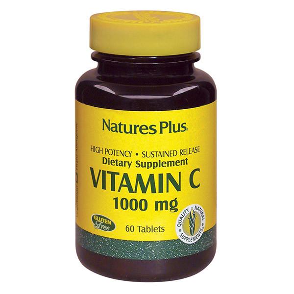 Витамин С 1000мг, Natures Plus, 60 таблеток