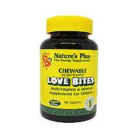 Детский Мультивитаминный и Мультиминеральный Комплекс, Love Bites, Natures Plus, 90 таблеток