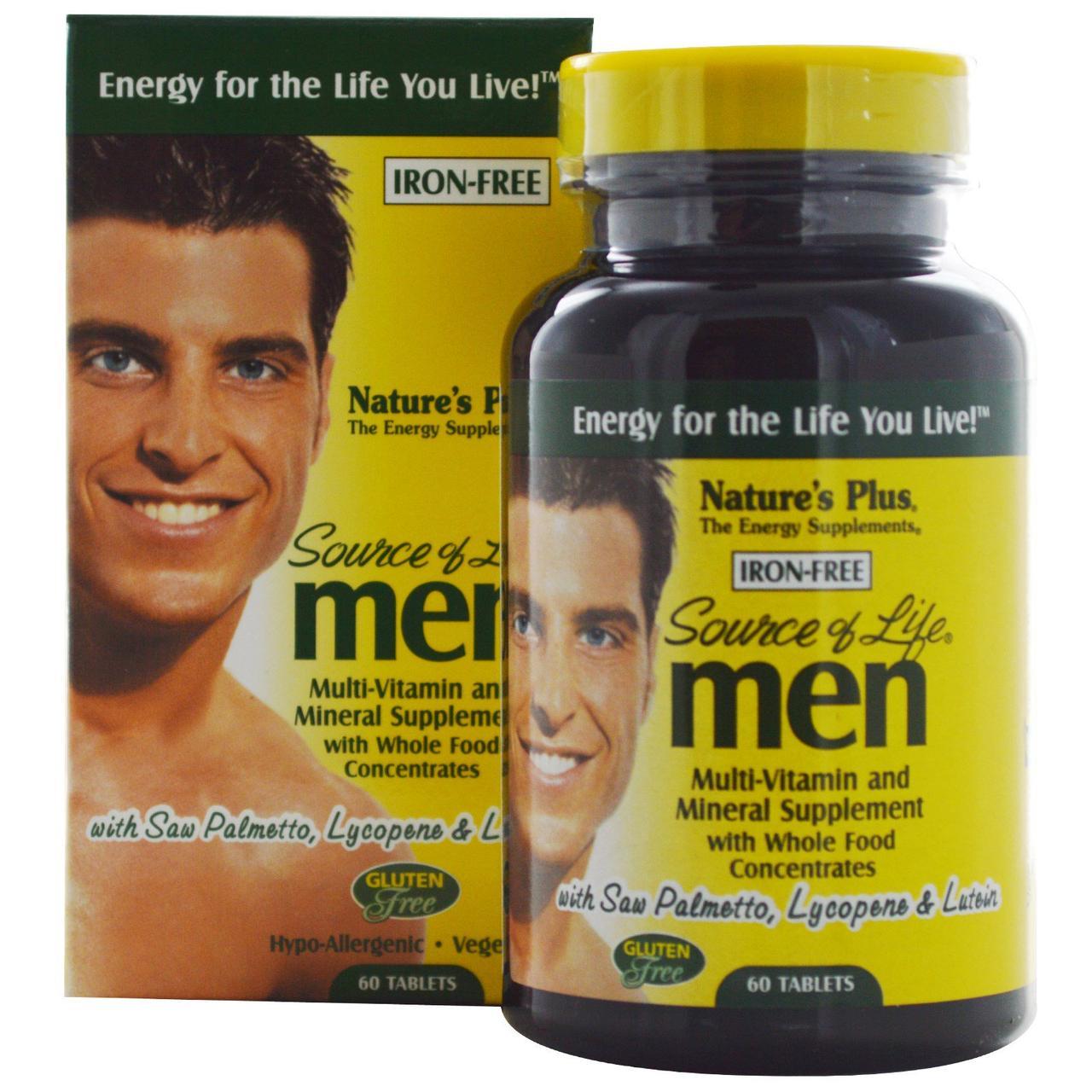 Мультивитамины для Мужчин, Source of Life, Natures Plus, 60 таблеток
