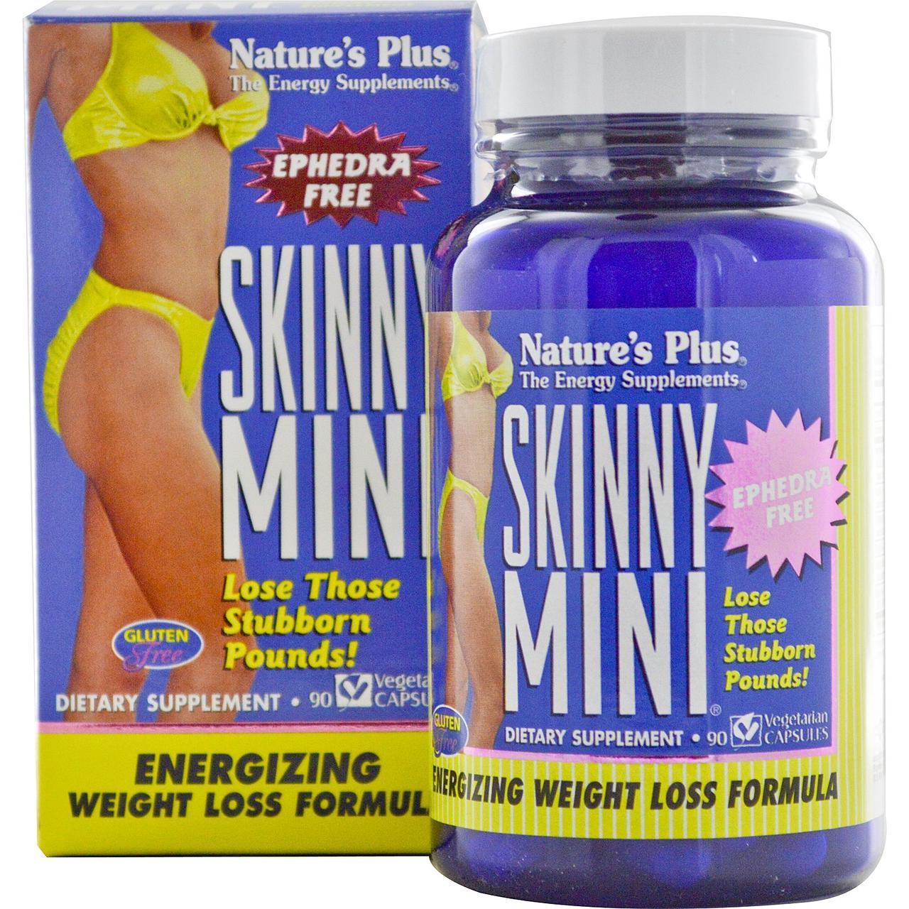 Комплекс для Схуднення, Skinny Mini, Natures Plus, 90 гельових капсул