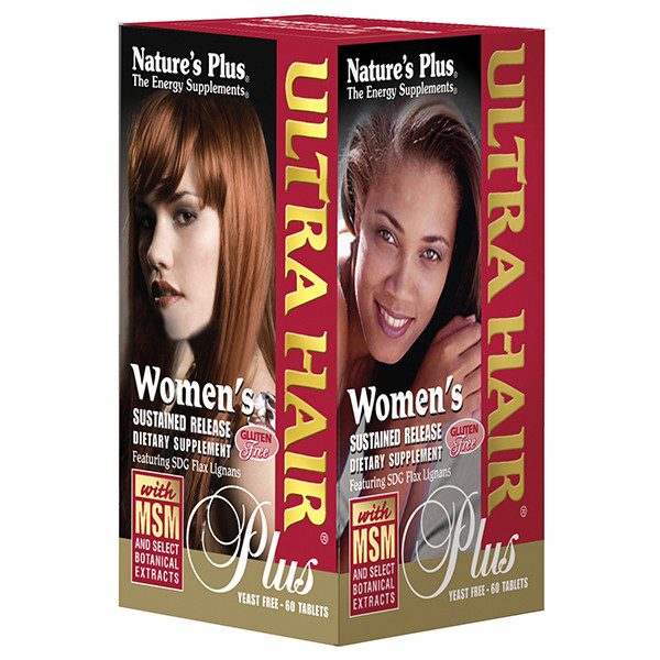 Комплекс для Роста Оздоровления Волос для Женщин, Ultra Hair, Natures Plus, 60 таблеток