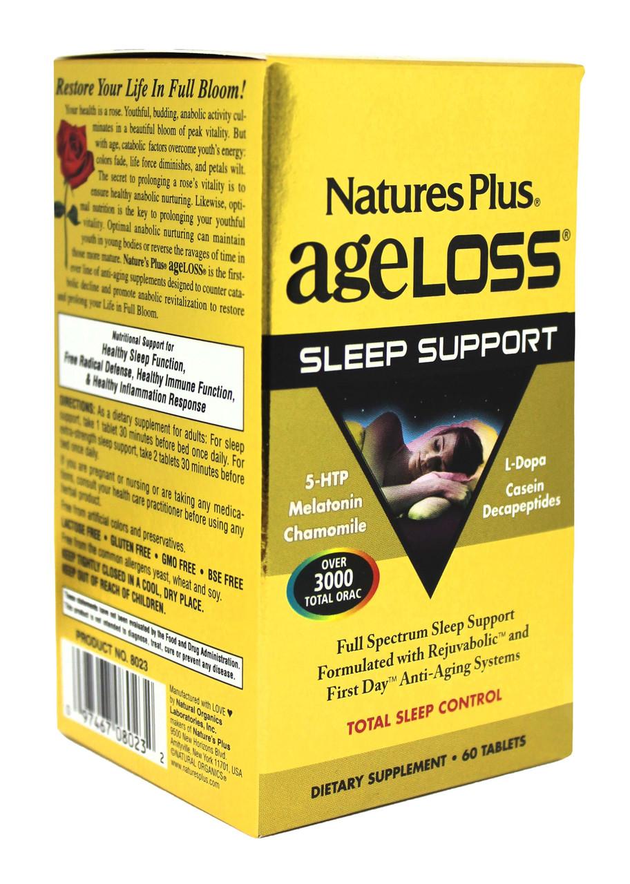 Комплекс для Здорового Сна, AgeLoss, Natures Plus, 60 таблеток