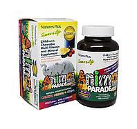 Мультивитамины для Детей, Вкус Ассорти, Animal Parade, Natures Plus, 180 жевательных таблеток