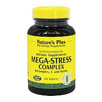 Комплекс для Боротьби зі Стресом і Підтримки Енергії, Mega-Stress, Natures Plus, 60 таблеток