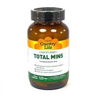 Мультиминеральный Комплекс, Target-Mins Total Mins, Country Life, 120 таблеток