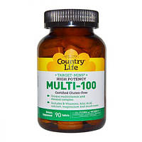Мультивитамины для Взрослых, Multi-100, Country Life, 90 таблеток
