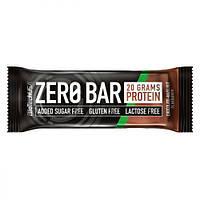 Протеиновый Батончик ZERO Bar, Вкус Шоколада и Ореха, BiotechUSA, 50 гр