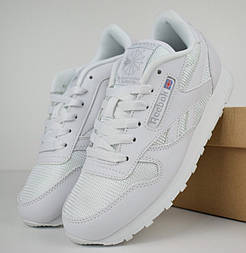 Женские кроссовки Reebok Classic белые. Живое фото (Реплика ААА+)