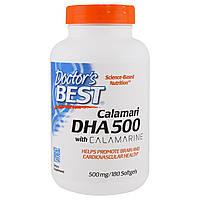 DHA (докозагексаеновая кислота) Глубоководный 500мг, Calamarine, Doctor's Best,60 желатиновых капсул