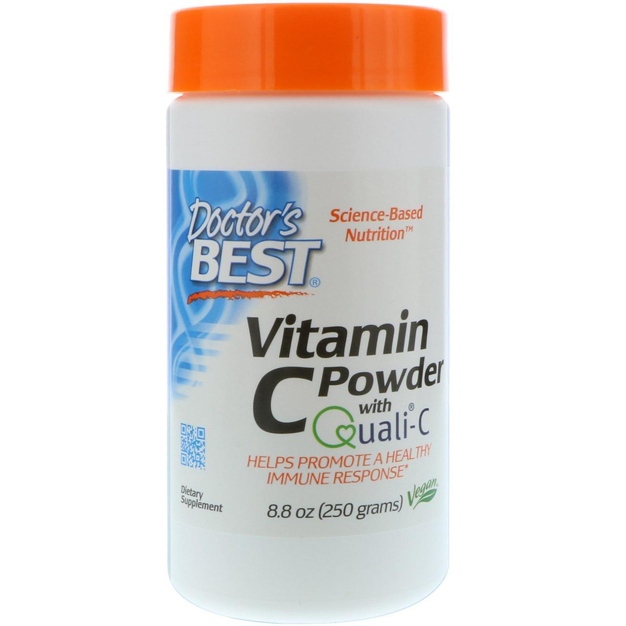 Витамин С в Порошке, Doctor's Best, 8.8 унции (250 гр)