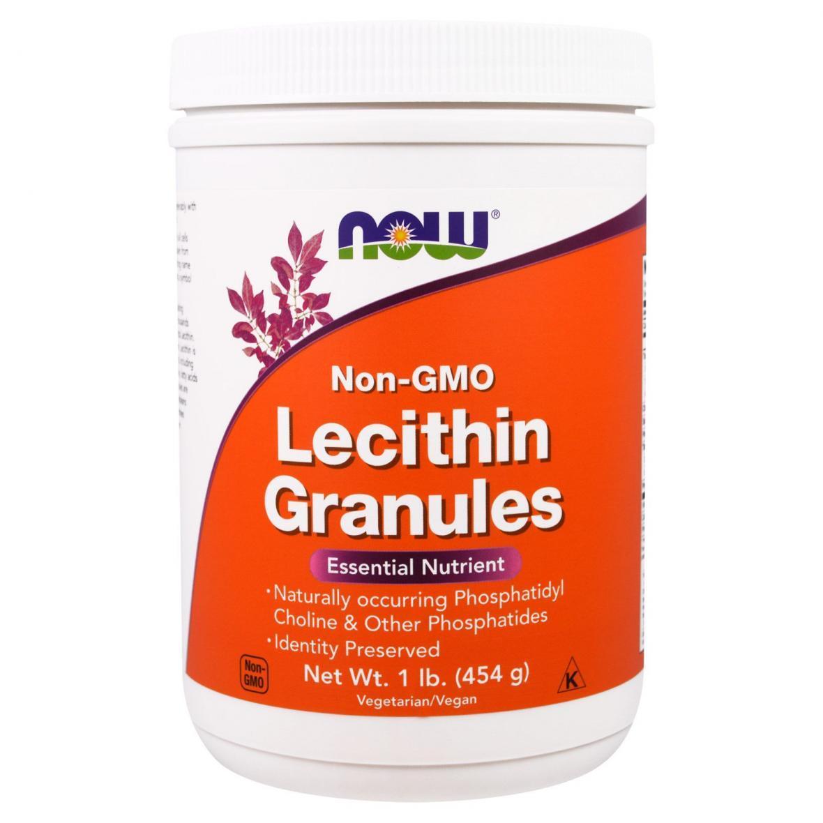 Гранулы Лецитина, Now Foods, 1 фунт (454 гр)